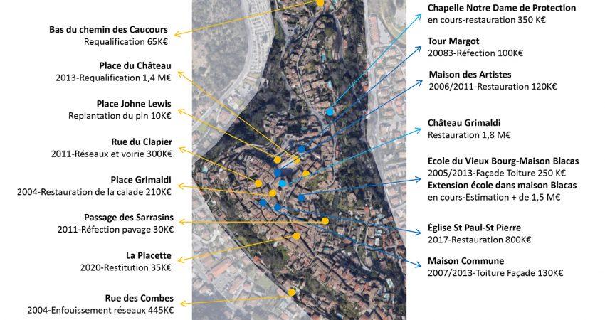 Site classé du Haut-de-Cagnes - Les investissements réalisés par la ville et la Métropole