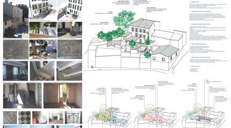 Extension de l'école du Vieux Bourg dans la maison Blacas - Esquisse de la maîtrise d'œuvre